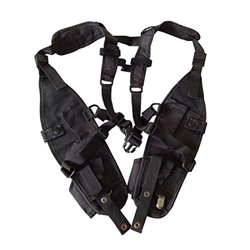 New Universal Tactical Chest Bag Multi-Function Harness Bag Double Waist Bag Camping Chest Bag Package for Police Firefighter Two Way Radio Search Rescue Essentials