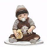 Gigicloud NPK 56cm Muñecas renacidas de Silicona de Cuerpo Completo Muñecas de bebé Educativo Juguete Realista Muñeca Suave de bebé recién Nacido para Dormir