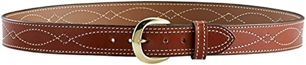 Aker Leather Products Lined Fancy Stitch Belt