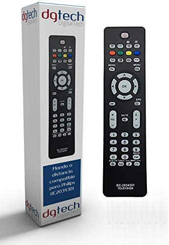 DigitalTech® - Mando de sustitución para televisores Compatible Philips RC2034301/01