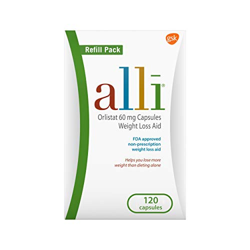 Price comparison product image alli Weight Loss Diet Pills,  Orlistat 60 mg Capsules,  120 Count Refill Pack