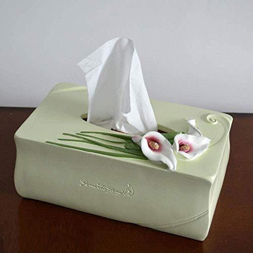 Qivor TLF-FF Caja del Tejido del Tejido titulares Caja de Almacenamiento Caja de pañuelos de Resina Caja de pañuelos