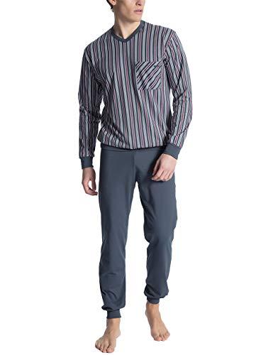 CALIDA Herren Relax Imprint 1 Zweiteiliger Schlafanzug, Schwarz (Ombre 368), Small (Herstellergröße:S)