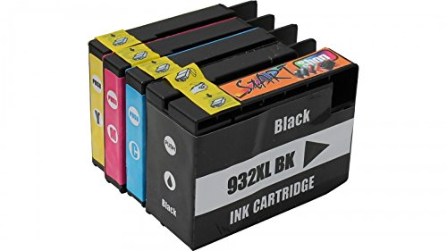 Start - 4 XL Ersatz Druckerpatronen kompatibel zu HP 932XL / HP 933XL Schwarz, Cyan, Magenta, Gelb für Hewlett Packard OfficeJet 6100 6600 6700 7110 7510 WF 7512 WF 7600 Serie 7610 WF 7612 WF