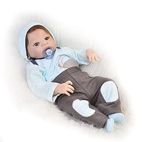 ZTLY Bebé renacido, bebé de simulación, muñeca de Silicona, Adecuada como Regalo para la Familia