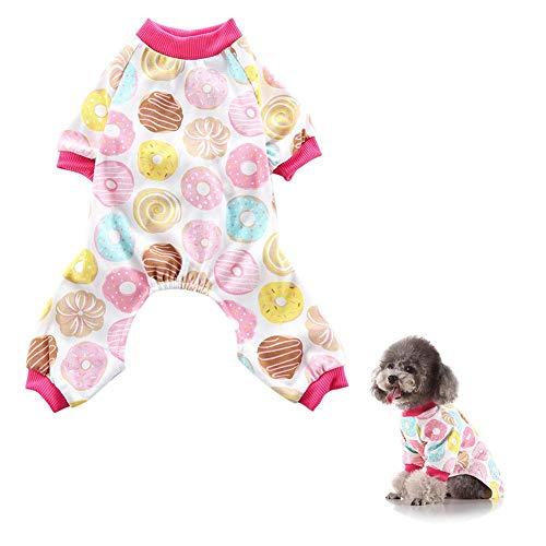 Bettying - Ropa para Mascotas con Capucha, Perro, Pijama, algodón, Camisetas para Perros pequeños, medianos, Cachorros, Gatos
