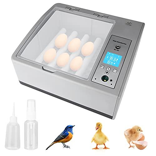 BITOWAT Digitaler Inkubator, Vollautomatische Brutmaschine mit LED Temperaturanzeige, Brutapparat für 16 Hühnereier für Geflügeleier Gänseeier Puten Hühner Vögeln