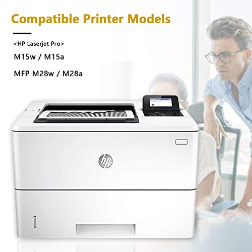 EBY Compatible HP 44A CF244A Cartucho de tóner para HP Laserjet Pro M15a M15w MFP M28w M28a Impresora (2 Negro)