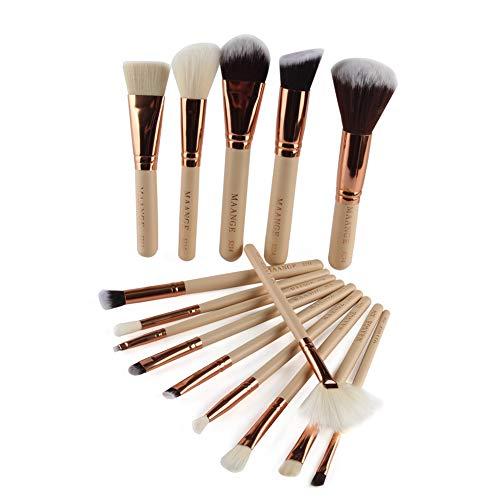IFOUNDYOU 15Pcs Maquillage Base Sourcils Eyeliner Blush Pinceaux CosméTiques Anticernes
