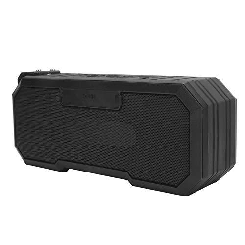 Lazmin112 Altavoz Bluetooth inalámbrico, IPX7 Altavoz con luz de Flash a Prueba de Agua Altavoz estéreo bajo Altavoz de subgraves Sonido sin pérdidas HiFi Altavoz Luminoso estéreo Envolvente(Negro)