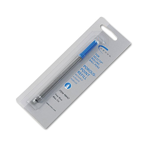 Cross 8442 - Recambio para bolígrafos de punta porosa Selectip (tinta azul)