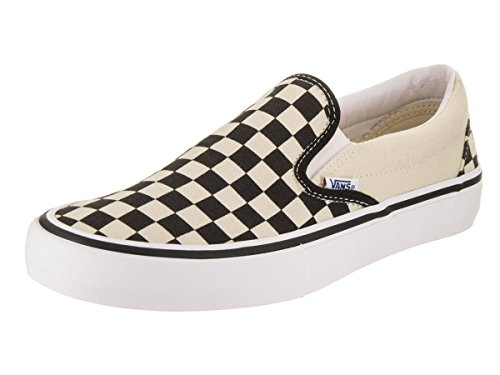 Vans Unisex Men Women Shoes Slip On Pro Checkerboard Black White Sneakers (6.5 D(M) US Men/8 B(M) US Women)