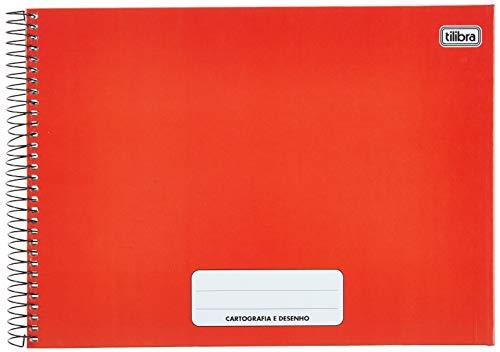 Caderno Cartografia e Desenho Pepper Vermelho 80 folhas,Tilibra - 1 un