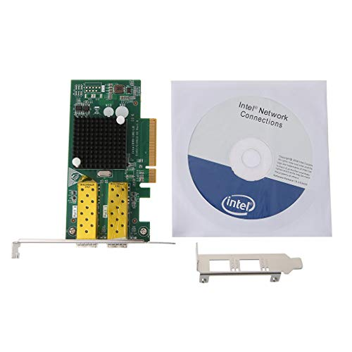 Ontracker FCoE Int-EL 82599 PCIe x8 10 Gigabit Ethernet Tarjeta óptica LAN Dual SFP Port Adapter Convertidor de Ontracker