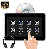 10.1'' Poggiatesta per auto Lettore DVD 1080P Video Touch Screen per bambini, Ultima memoria, Stessa schermata di riproduzione, AUX Ingresso/uscita AV gratuiti/USB/SD/FM/IR