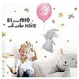 Little Deco Wandtattoo Babyzimmer Hase & Spruch Bis zum