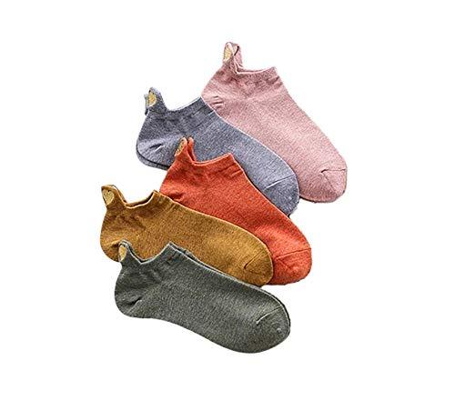 Bella und Flores - Socken Herz aus Gold, 5er-Pack, 35-39, Mehrfarbig (verspielt)