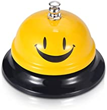 EMDMAK Call Bell, Service Bell for The Porter Kitchen Restaurant Bar Classic Concierge Hotel (3.3 Inch Diameter) (Yellow A)