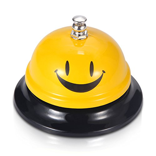 EMDMAK Call Bell, Service Bell for The Porter Kitchen Restaurant Bar Classic Concierge Hotel (3.3 Inch Diameter) (Yellow A)