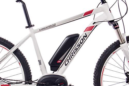 41YLwv43nVL - CHRISSON 27,5 Zoll E-Bike Mountainbike Bosch - E-Mounter 2.0 Weiss 52cm - Elektrofahrrad, Pedelec für Damen und Herren mit Bosch Motor Performance Line 250W, 63Nm - Intuvia Computer und 4 Fahrmodi