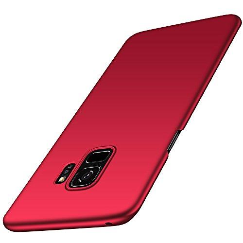 Anccer Cover per Samsung Galaxy S9 [Serie Colorato] di Gomma Rigida Protezione Da Cadute e Urti Compatibile con Samsung S9 (Rosso liscio)