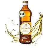 BIO Hanfsamenöl 100 ml aus Deutschland, kaltgepresst, ohne Zusätze, Nutzhanf aus Detschland