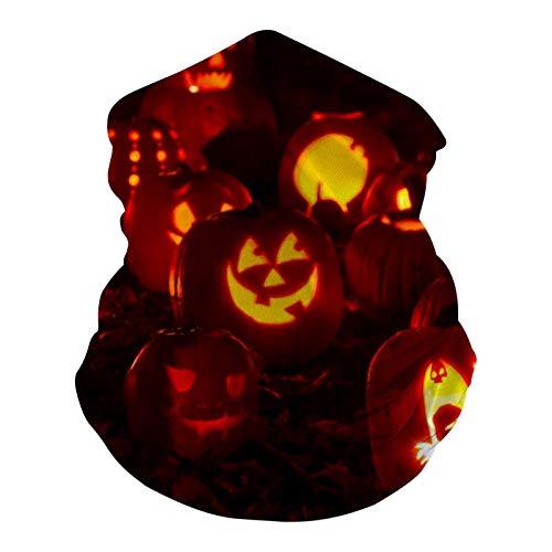 Halloween Creepy Pumpkins al aire libre Fibra Headwear Bandana Deportes Bufanda para Ciclismo Senderismo Montar para las mujeres