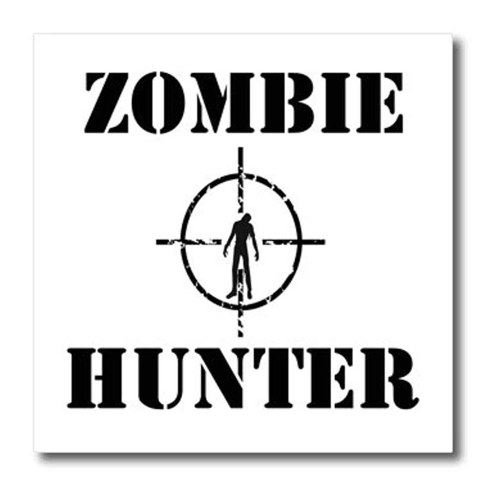 3dRose ht_161176_1 Zombie Hunter-Iron on Heat Transfer Paper for White Material, 8 by 8-Inch