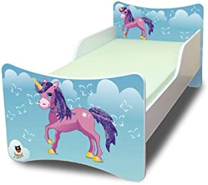 Best For Kids Children s Bed with Foam Mattress with T V CERTIFIED 80x180 PONY