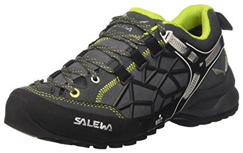 Salewa Unisex-Erwachsene UN Wildfire Pro Trekking-& Wanderhalbschuhe, Carbon/Green, 38 EU