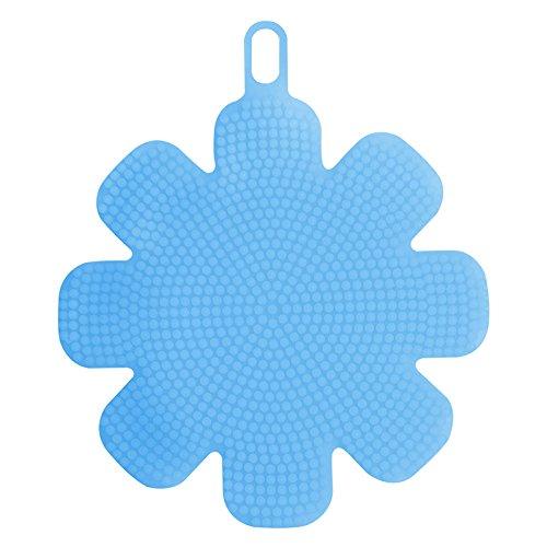 Generic azul: TTLIFE multifunción silicona suave cepillo de limpieza para lavar platos utensilios de cocina Eco-friendly creativo cepillo 4colores