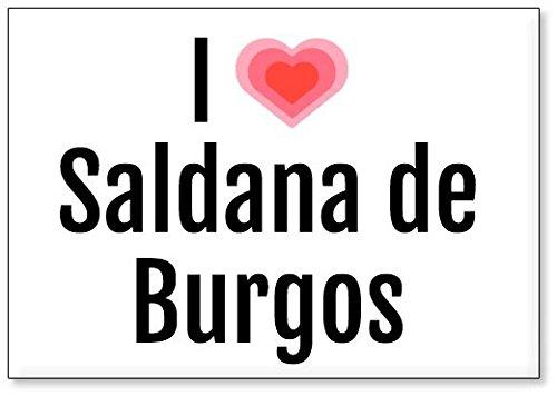 Mundus Souvenirs - Amo Saldana de Burgos, Imán para Nevera (diseño 2)