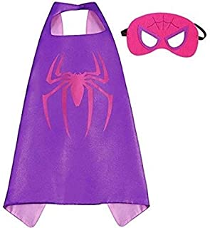 Double sided Kids Spiderman Top Costume with mask and cape, 4-8 years Kids Boys Parties Festival Batman Costume, Justice L...