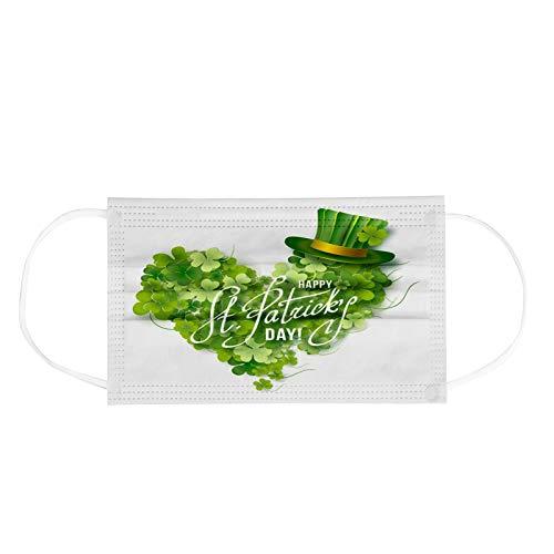 Pañuelo desechable para el día de San Patricio, para adultos, estampado industrial, desechable