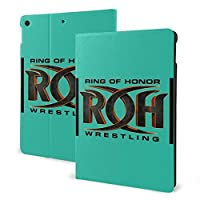 Roh Ring Of Honor Wrestling Ipad 10.2 第7世代 Airpod適用 ケース 極薄 超軽量 傷つけ防止 耐久性 三つ折りスタンド フォリオケース