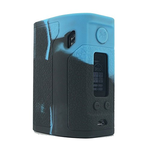 ModShield for Wismec Reuleaux RX300 TC 300W Silicone Case ByJojo Sleeve Skin Wrap Cover (Blue/Black)