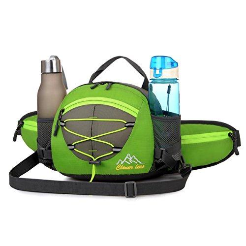 Équitation vélo poche taille sac à main grande capacité sports de plein air multifonction fonctionnelle de taille randonnée alpinisme voyage sac à dos dans la taille 5 couleurs H22 x l 22 x T10 cm , green