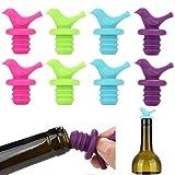 Xinlie 9 Pezzi Tappi Bottiglie Vino Silicone Tappi Vino Tappo Bottiglia Vino Capsule in Tappo per Bottiglie di Champagne Vino Tappi per Bottiglie Riutilizzabili per Sigillare e Preservare Vino