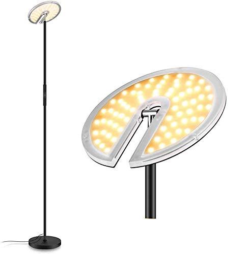 FIMEI Lampadaire, 30W LED Lampadaire sur Pied Salon, lampe de lecture, Protection Des Yeux, 360 °rotatif, 3 Températures de Couleur, fonction mémoire [Classe énergétique A+]