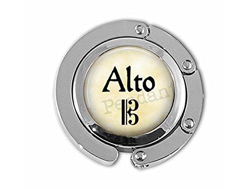 qws Alto Jewelry – Sänger-Schmuck – Alt-Chor-Aufhänger – Geschenk Sänger – Alt-Notenschlüssel – Chorus – Opernsänger