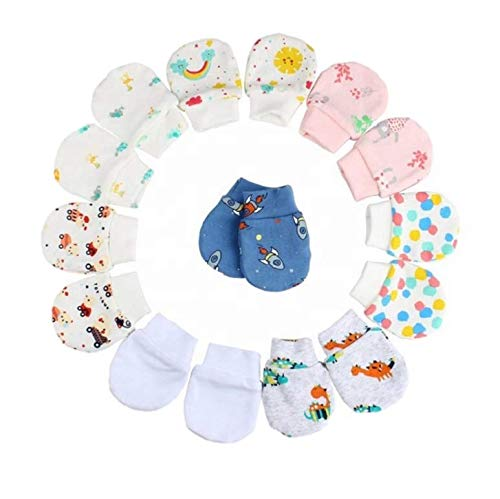 kezle Baby's Soft Cotton Mittens (Multicolour) - Pack of 6 Pairs