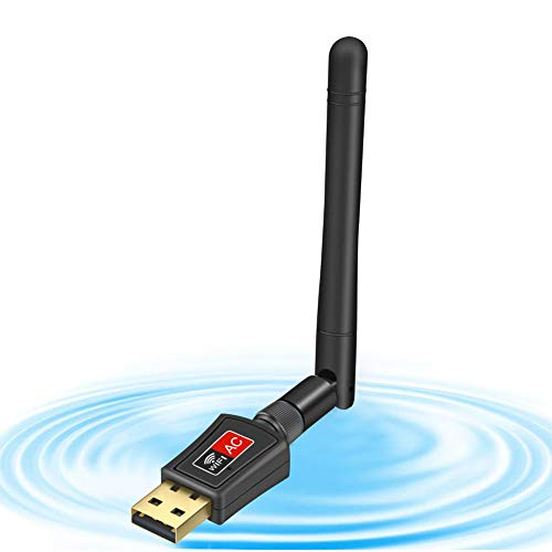 jojobnj WLAN Stick Dualband 600Mbit/s (5.8G/433Mbps + 2.4G/150Mbps) 802.11 ac/n/g/b/a WiFi Protected Setup (WPS) Mini Adapter für Desktop/PC/Laptop/Notebook Windows Mac OS, Kompatibel mit Alle Router
