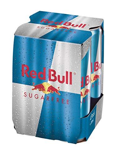 Red Bull Energy drink à base de Taurine et de caféine, sans sucres - Les 4 canettes de 25cl