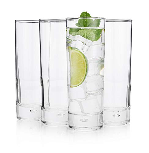 The Best'New York Long Drink' Highball Glass, (Cocktail Party Set of 4)