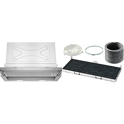 Siemens LI67RA530 iQ300 Flachschirmhaube / 59,8 cm/Lüfterleistung/Silbermetallic & LZ45650 Dunstabzugshaubenzubehör/Einbau
