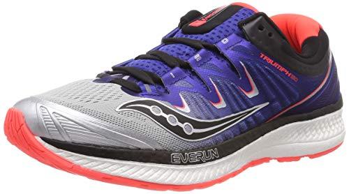 Saucony Triumph Iso 4, Chaussures de Running Homme, Multicolore (Silver/Blue/Vizi Red 35), 45 EU