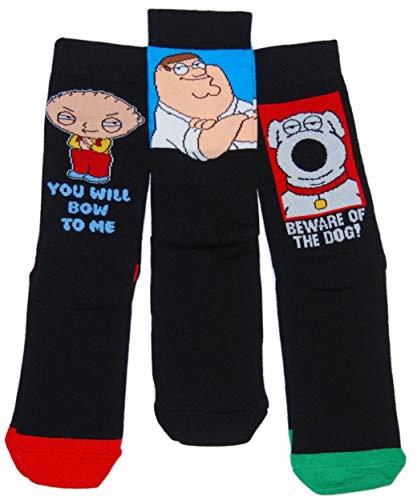 Herren Socken Family Guy, 3 Paar Gr. 39-45, FAMILY GUY