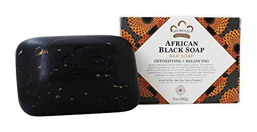 Jabón negro africano Nubian, con avena, aloe y vitamina E (140 g)
