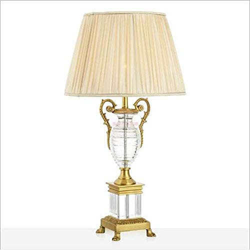WSJTT Desk lamp Lampe Kristall Trophy Pure Kupfer European Luxus Vierbeiner Französisch Wohnzimmer Master Room Villa Hotel Fremdschein Lampe 37 * 71 cm