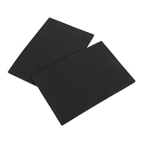 Almohadillas de Goma para pies, 4 Piezas de Almohadillas de Goma Protectoras Autoadhesivas Antideslizantes Negras, para Muebles, Suelos, Superficies de Escritorio, Paredes (4,5 cm x 14,2 cm)